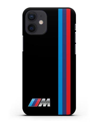 Чехол BMW M Perfomance силикон черный для iPhone 12 mini