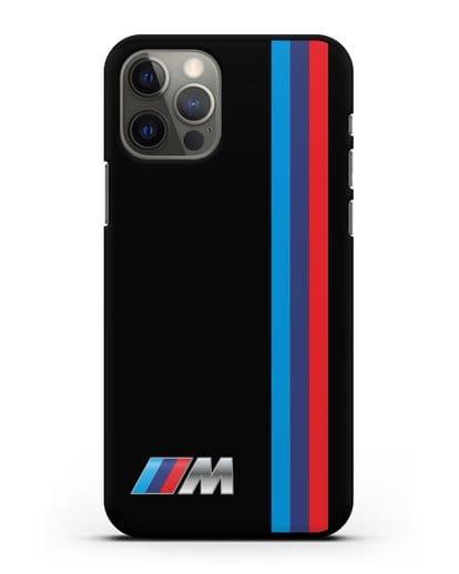 Чехол BMW M Perfomance силикон черный для iPhone 12 Pro