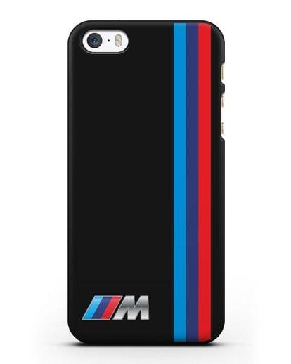Чехол BMW M Perfomance силикон черный для iPhone 5/5s/SE