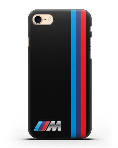 Чехол BMW M Perfomance силикон черный для iPhone SE 2020