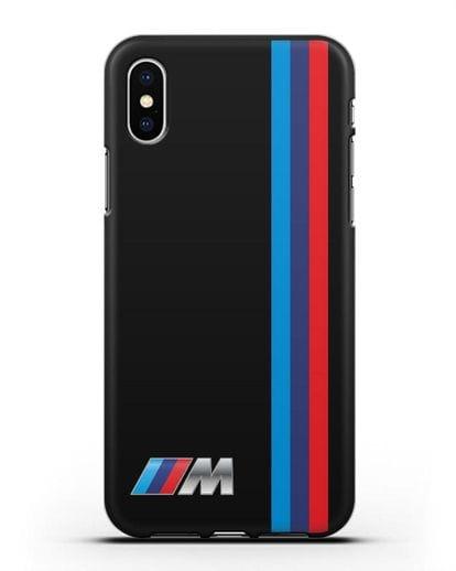 Чехол BMW M Perfomance силикон черный для iPhone X