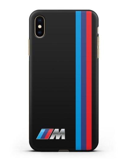 Чехол BMW M Perfomance силикон черный для iPhone XS Max