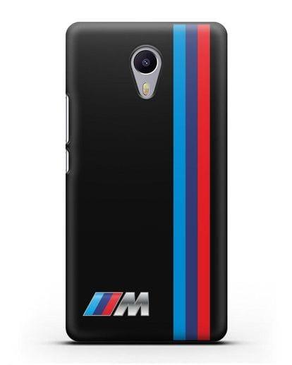 Чехол BMW M Perfomance силикон черный для MEIZU M3 Note