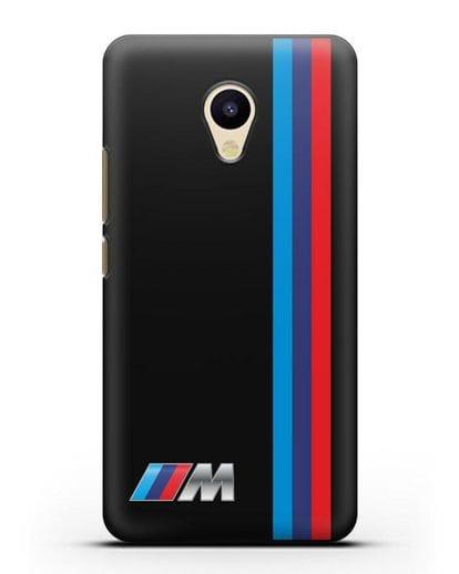 Чехол BMW M Perfomance силикон черный для MEIZU M5
