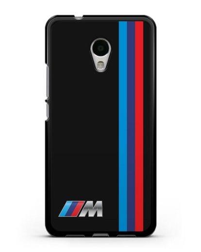 Чехол BMW M Perfomance силикон черный для MEIZU M5s
