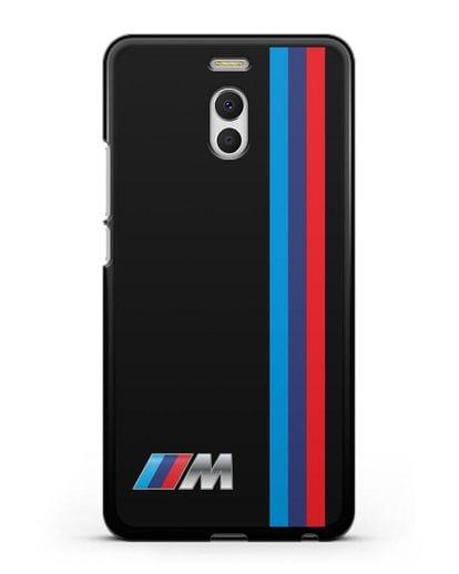 Чехол BMW M Perfomance силикон черный для MEIZU M6 Note
