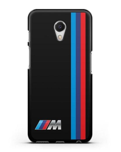 Чехол BMW M Perfomance силикон черный для MEIZU M6s