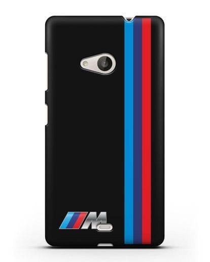 Чехол BMW M Perfomance силикон черный для Microsoft Lumia 535