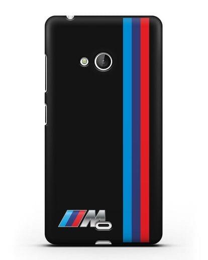 Чехол BMW M Perfomance силикон черный для Microsoft Lumia 540