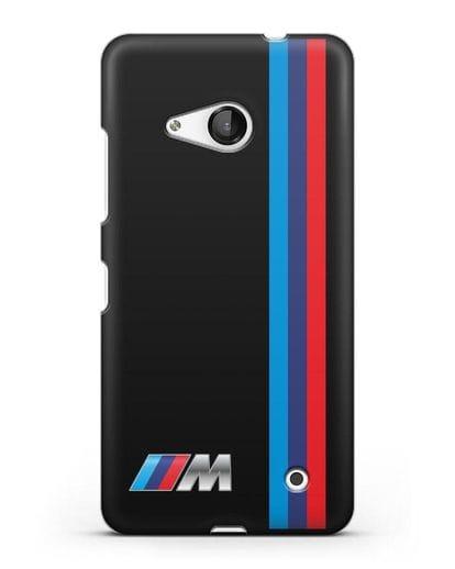 Чехол BMW M Perfomance силикон черный для Microsoft Lumia 550