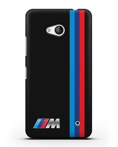 Чехол BMW M Perfomance силикон черный для Microsoft Lumia 640