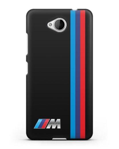 Чехол BMW M Perfomance силикон черный для Microsoft Lumia 650
