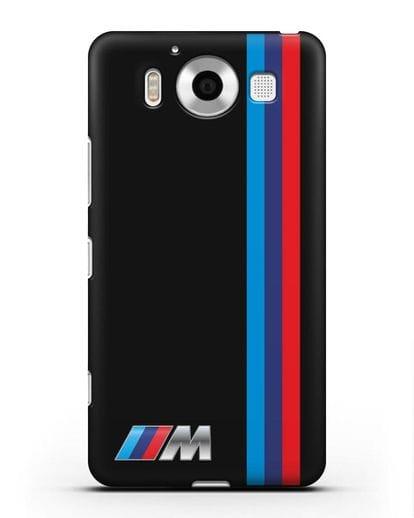 Чехол BMW M Perfomance силикон черный для Microsoft Lumia 950