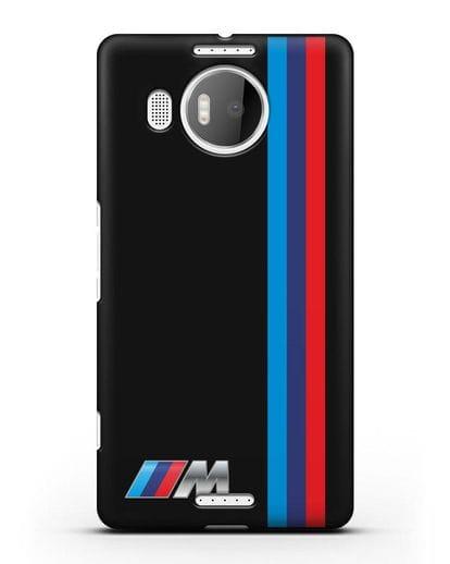 Чехол BMW M Perfomance силикон черный для Microsoft Lumia 950 XL