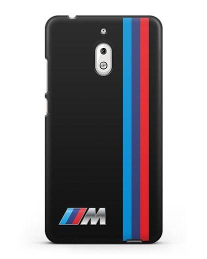 Чехол BMW M Perfomance силикон черный для Nokia 2.1