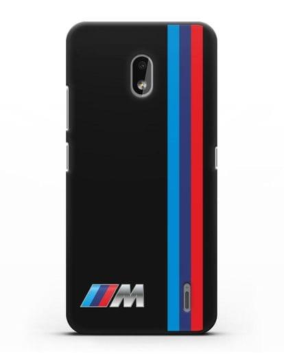Чехол BMW M Perfomance силикон черный для Nokia 2.2 2019