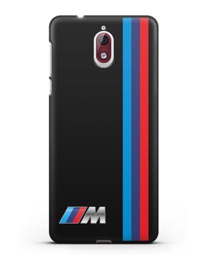 Чехол BMW M Perfomance силикон черный для Nokia 3.1