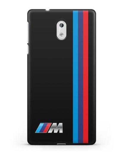 Чехол BMW M Perfomance силикон черный для Nokia 3