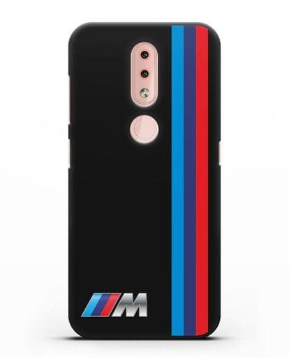 Чехол BMW M Perfomance силикон черный для Nokia 4.2 2019