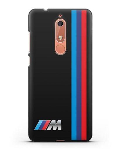 Чехол BMW M Perfomance силикон черный для Nokia 5.1
