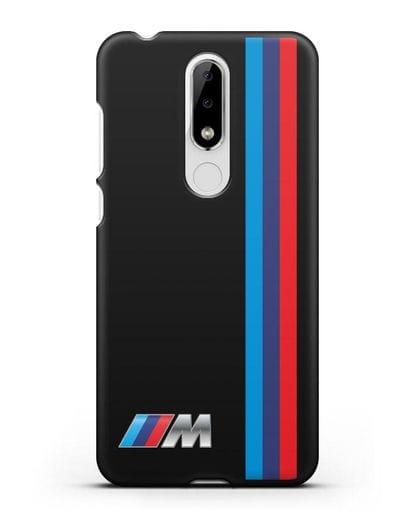 Чехол BMW M Perfomance силикон черный для Nokia 5.1 plus