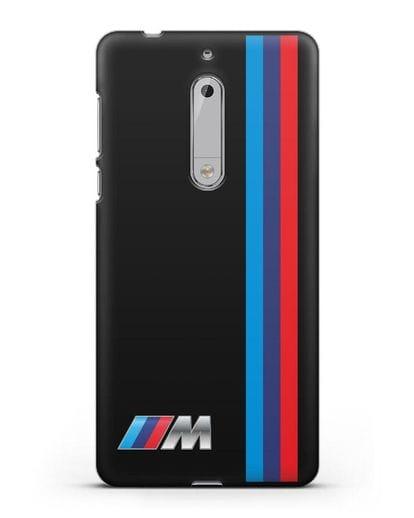 Чехол BMW M Perfomance силикон черный для Nokia 5