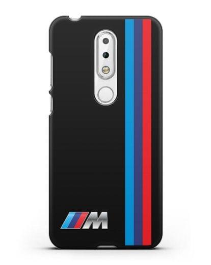 Чехол BMW M Perfomance силикон черный для Nokia 6.1 plus