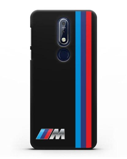 Чехол BMW M Perfomance силикон черный для Nokia 7.1