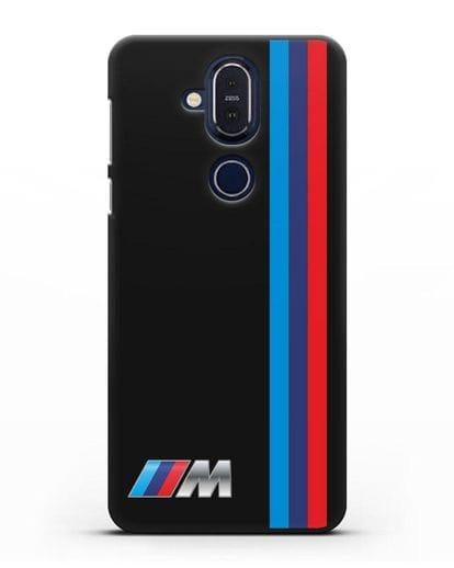 Чехол BMW M Perfomance силикон черный для Nokia 7.1 plus