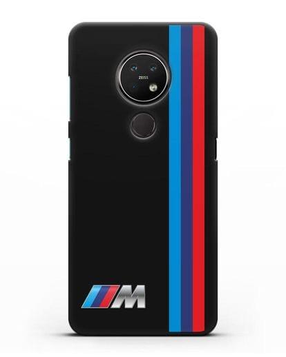 Чехол BMW M Perfomance силикон черный для Nokia 7.2
