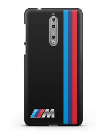 Чехол BMW M Perfomance силикон черный для Nokia 8