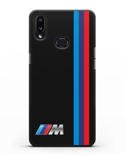 Чехол BMW M Perfomance силикон черный для Samsung Galaxy A10s [SM-F107F]