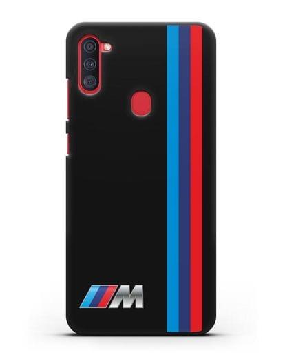 Чехол BMW M Perfomance силикон черный для Samsung Galaxy A11 [SM-A115F]