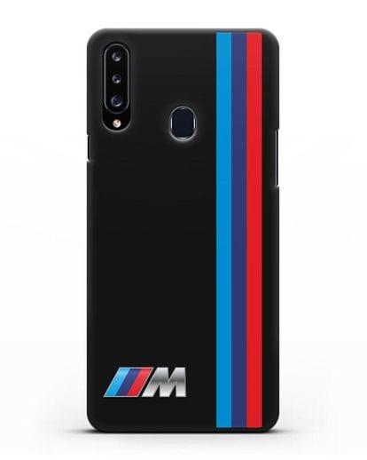 Чехол BMW M Perfomance силикон черный для Samsung Galaxy A20s [SM-A207FN]