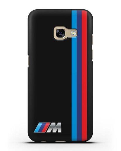 Чехол BMW M Perfomance силикон черный для Samsung Galaxy A3 2017 [SM-A320F]