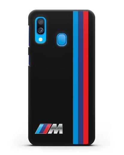 Чехол BMW M Perfomance силикон черный для Samsung Galaxy A40 [SM-A405F]
