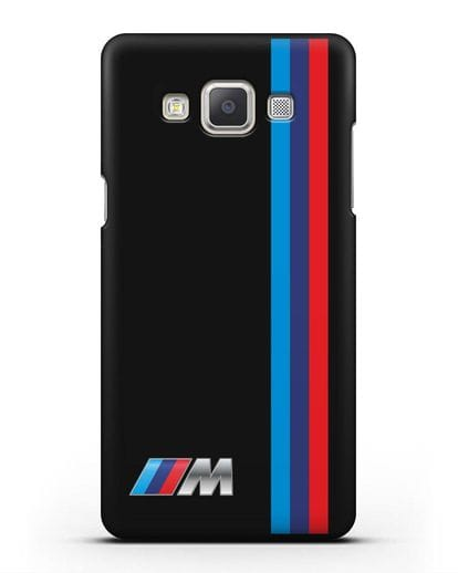 Чехол BMW M Perfomance силикон черный для Samsung Galaxy A7 2015 [SM-A700F]