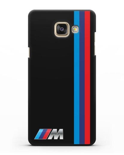 Чехол BMW M Perfomance силикон черный для Samsung Galaxy A7 2016 [SM-A710F]