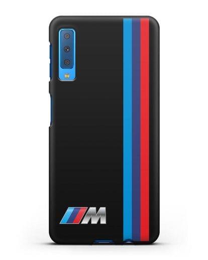 Чехол BMW M Perfomance силикон черный для Samsung Galaxy A7 2018 [SM-A750F]
