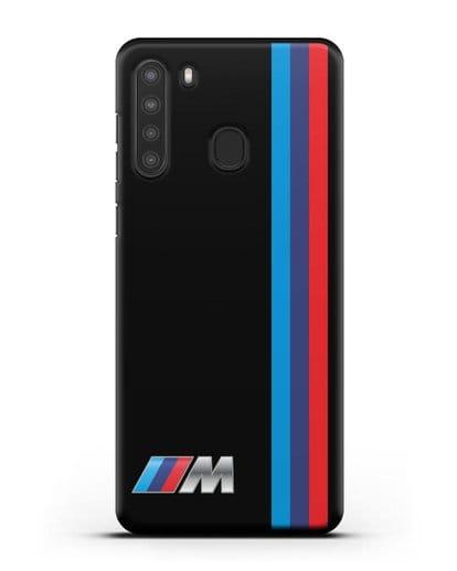 Чехол BMW M Perfomance силикон черный для Samsung Galaxy A21 [SM-A215]