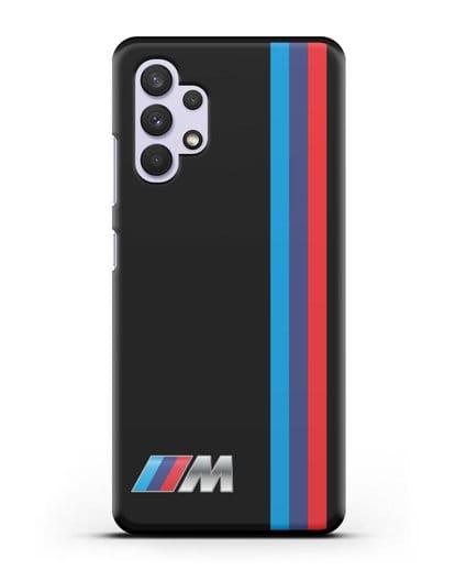 Чехол BMW M Perfomance силикон черный для Samsung Galaxy A32 [SM-A325F]