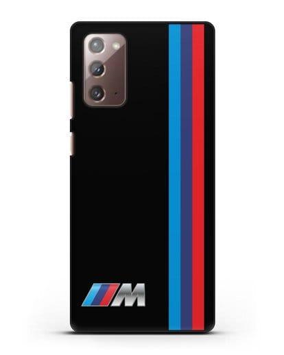 Чехол BMW M Perfomance силикон черный для Samsung Galaxy Note 20 [SM-N980F]