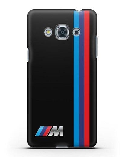 Чехол BMW M Perfomance силикон черный для Samsung Galaxy J3 Pro [SM-J3110]