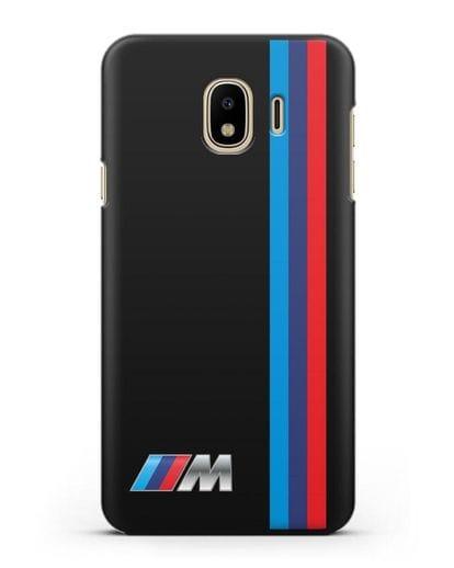 Чехол BMW M Perfomance силикон черный для Samsung Galaxy J4 2018 [SM-J400F]