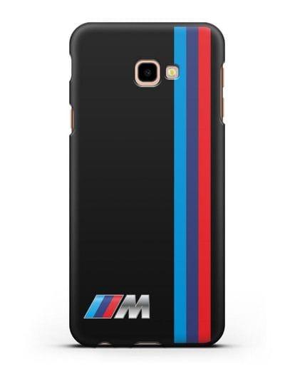 Чехол BMW M Perfomance силикон черный для Samsung Galaxy J4 Plus [SM-J415]
