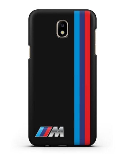Чехол BMW M Perfomance силикон черный для Samsung Galaxy J7 2017 [SM-J720F]