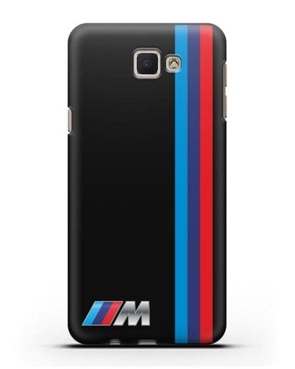 Чехол BMW M Perfomance силикон черный для Samsung Galaxy J7 Prime [SM-G610F]
