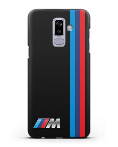 Чехол BMW M Perfomance силикон черный для Samsung Galaxy J8 2018 [SM-J810F]