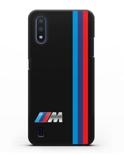 Чехол BMW M Perfomance силикон черный для Samsung Galaxy M01 [SM-M015F]