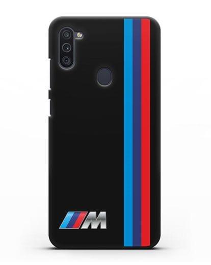 Чехол BMW M Perfomance силикон черный для Samsung Galaxy M11 [SM-M115F]